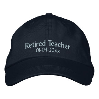 Zurückgezogen Lehrer-Personifizieren Sie Datum Bestickte Kappe