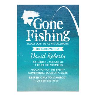 Zurückgezogen Ruhestands-, Party zu fischen Karte