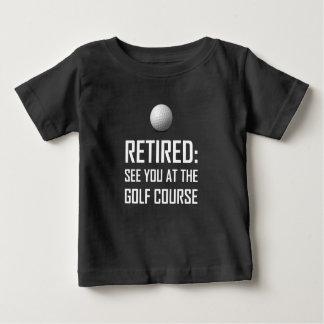 Zurückgezogen sehen Sie Sie am Golfplatz Baby T-shirt