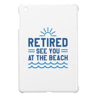 Zurückgezogen sehen Sie Sie am Strand iPad Mini Hülle