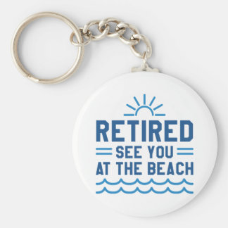 Zurückgezogen sehen Sie Sie am Strand Schlüsselanhänger