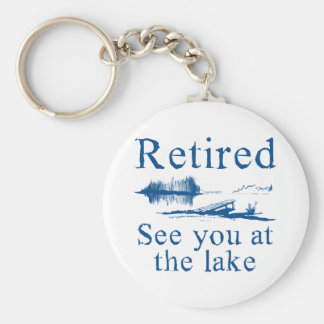 Zurückgezogen sehen Sie Sie in dem See Schlüsselanhänger