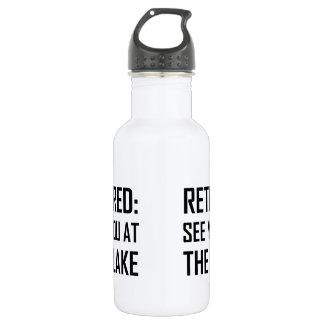 Zurückgezogen sehen Sie Sie in See Edelstahlflasche