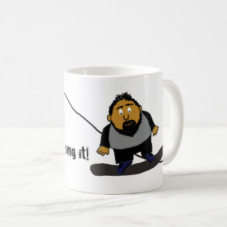 Zurückgezogen und es liebend kaffeetasse