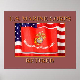 Zurückgezogener USMC bewerten das Plakat-Papier Poster
