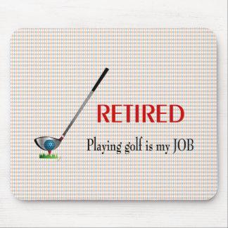 Zurückgezogenes GOLF -, Golf ist zu spielen ein Mousepads