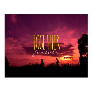 Zusammen für immer Paare auf Postkarte