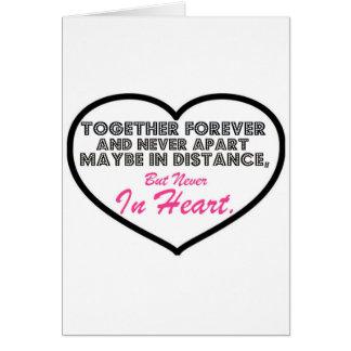 Zusammen für immer u. nie auseinander ....... karte