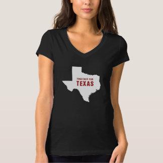 Zusammen für Texas nach Hurrikan Harvey Schwarzem T-Shirt