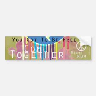 Zusammen kommen FriedensAutoaufkleber Auto Sticker