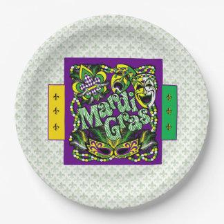 Zusammen kommen Karneval-Party-Papierplatte Pappteller