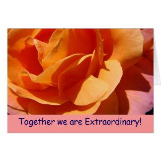 Zusammen sind wir außerordentlich! Außergewöhnlich Grußkarten