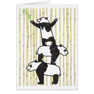 Zusammenarbeitende Pandas Karte