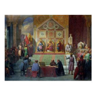 Zusammenbau der Kreuzfahrer in Ptolemais im Jahre Postkarte
