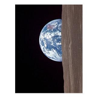 Zusammenfassende Beschreibungs-Erde, die hinter Postkarte