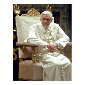 Zusammenfassende Beschreibungs-Papst Benedictus Postkarte