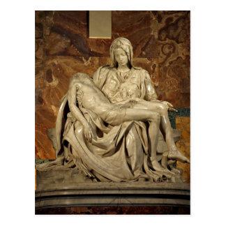 Zusammenfassenden Michelangelos Piet? St Peter Postkarte