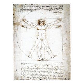 Zusammenfassender Leonardo da Vinci: Die Anteile Postkarte