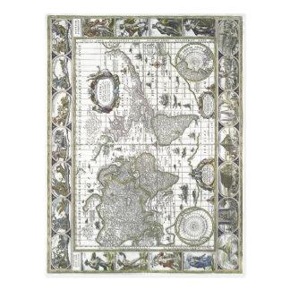 Zusammenfassender Willem Janszoon Blaeu: Nova toti Postkarten