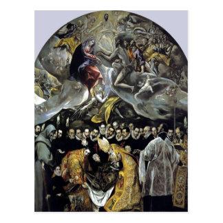 Zusammenfassendes El Greco - die Beerdigung der Postkarte