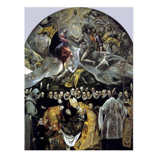 Zusammenfassendes El Greco - die Beerdigung der Zä Postkarte
