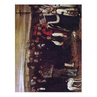 Zusammenfassung eine Beerdigung bei Ornans malend Postkarten