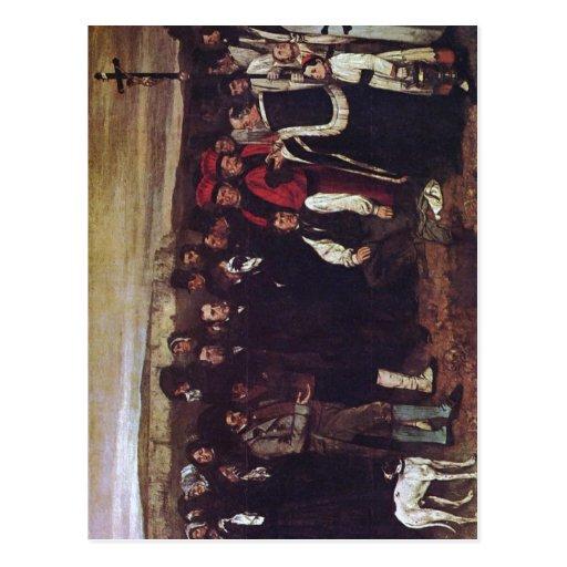 Zusammenfassung eine Beerdigung bei Ornans, malend Postkarten