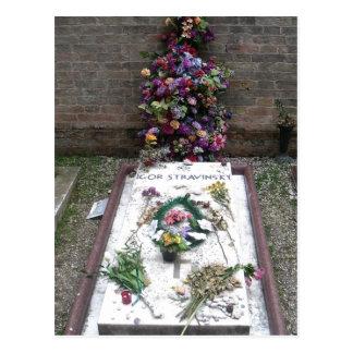 Zusammenfassung: Grab von Igor Stravinsky in San Postkarte