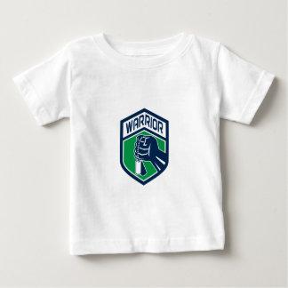 Zusammengepreßtes Faust Dogtag Krieger-Wappen Baby T-shirt