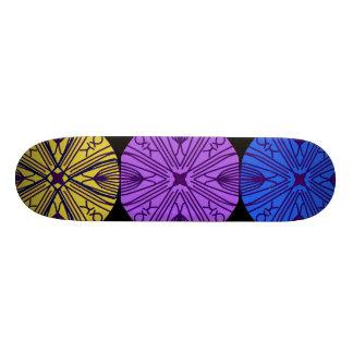 Zusammenpassender Mandalas in drei höflichen 19,7 Cm Skateboard Deck