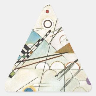 Zusammensetzung 8 Kandinsky Malerei Dreieckiger Aufkleber