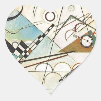 Zusammensetzung 8 Kandinsky Malerei Herz-Aufkleber