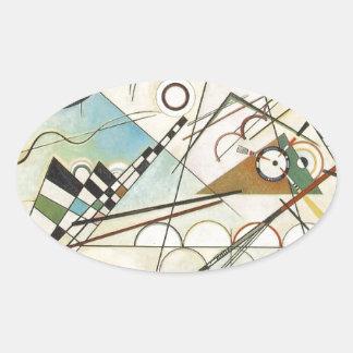 Zusammensetzung 8 Kandinsky Malerei Ovaler Aufkleber