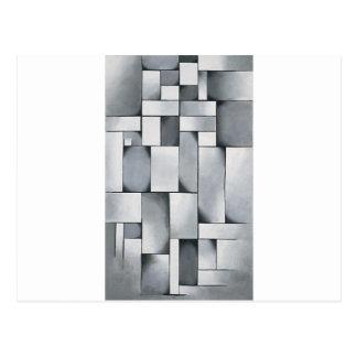 Zusammensetzung im Grau durch Theo van Doesburg Postkarte