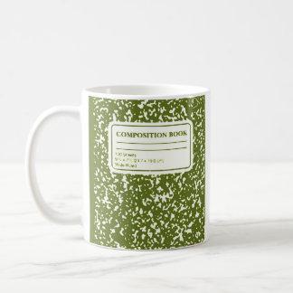 Zusammensetzungs-Buch/Referendar Kaffeetasse