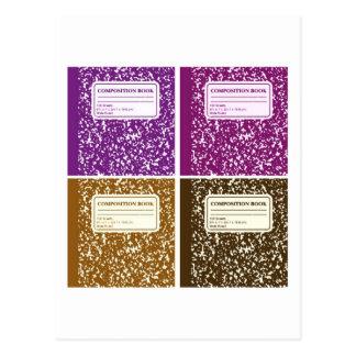 Zusammensetzungs-Buch/Referendar Postkarte