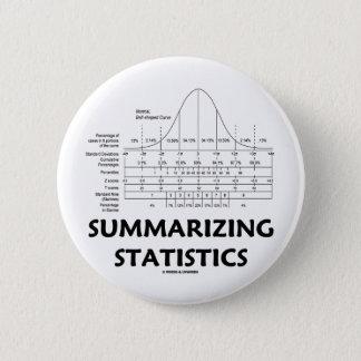 Zusammenstellung von Statistiken Runder Button 5,1 Cm