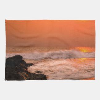 Zusammenstoßendes Wellenhandtuch Handtuch
