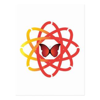 Zusammenwirkender Geist-Mitte-Schmetterling Postkarte