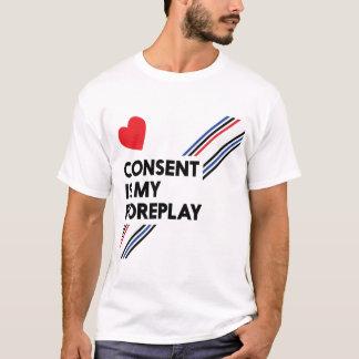 Zustimmung ist mein Foreplay-Licht-Leder T-Shirt