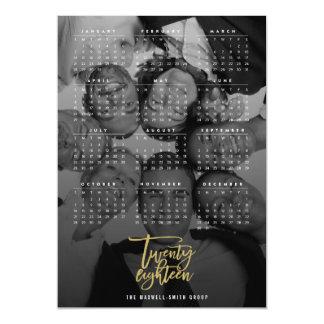 Zwanzig achtzehn 2018 Kalender-Foto-Magnetkarte Magnetische Karte
