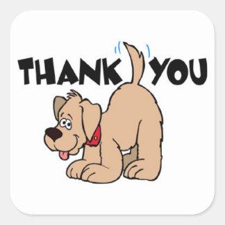 ZWANZIG danken Ihnen Aufkleber - Hund mit dem