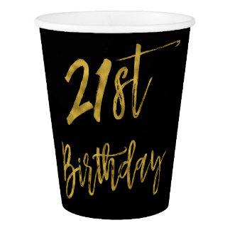 Zwanzig erste Geburtstags-Goldfolien-Papierschale Pappbecher