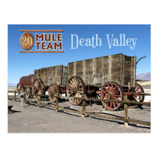 Zwanzig-Maultier Teamlastwagen, Death Valley, Postkarte