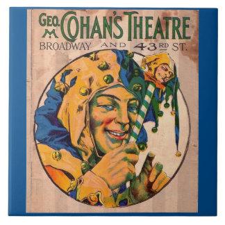 Zwanzigerjahre Cohans Theater playbill Abdeckung Fliese