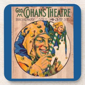 Zwanzigerjahre Cohans Theater playbill Abdeckung Getränkeuntersetzer