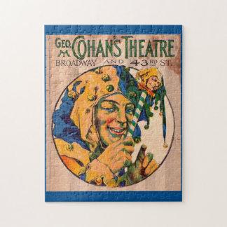 Zwanzigerjahre Cohans Theater playbill Abdeckung Puzzle