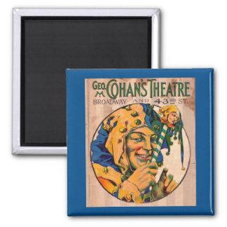 Zwanzigerjahre Cohans Theater playbill Abdeckung Quadratischer Magnet