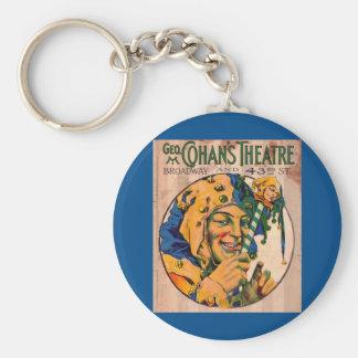 Zwanzigerjahre Cohans Theater playbill Abdeckung Schlüsselanhänger