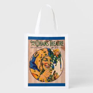 Zwanzigerjahre Cohans Theater playbill Abdeckung Wiederverwendbare Einkaufstasche